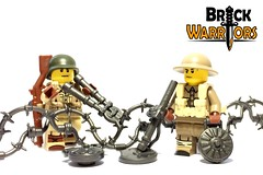 Nov 2016 - Mine Sweeper (BrickWarriors - Ryan) Tags: brickwarriors custom lego minifigure weapons helmets armor guns mine sweeper detector landmine sapper ww2 world war military history wire cutters barbed trenches