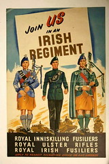 Royal Irish.- Join Us in an Irish Regiment .. Join The North Irish Brigade ' The Professional Soldiers. (mrvisk) Tags: old irish history british army soldiers pipers uniforms kilts poster bagpipes northern ireland ulster