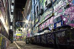 Hosier Lane (Tom Supertramp) Tags: grafitty trash rubish colors night long exposure canon 100d hosier lane melbourne urbex