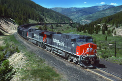 Southern Pacific Tennessee Pass Mitchell ... (SP221AC) Tags: drgw rio grande rocky mountains tennessee pass southern pacific royal gorge route minturn pando deen tunnel west train railroad sp ac4400 coal helpers railroading colorado vail leadville camp hale high wagon engine placer dpu mid 1996 sp262 11112