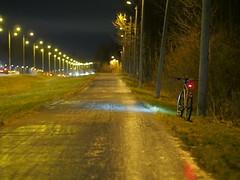 2016 Bike 180: Day 288, December 5 (olmofin) Tags: 2016bike180 bicycle ice path finland hmeenlinnanvyl polkupyr j pyrtie dark hmr