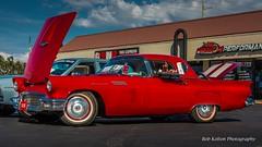 1957 Ford Thunderbird - Steve n Susan Carroll 05 (Bob Kolton Photography) Tags: automotive autos automobiles antique bobkoltonphotography bradenton cars car classic classiccars canong1x hdr hotcars manateecounty thunderroad worldofbeer ford fordthunderbird thunderbird