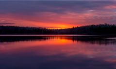 Sunrise At Turtle Creek Reservoir (James P. Mann) Tags: turtle creek reservoir water supply sunrise reflection reflections golden cloudy clouds