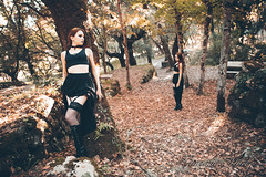 (G i a c o m o - M a c i s) Tags: model modelling photography photo alternative leaf dryleaf aut autumn portrait portraiture outdoor dark goth gothic nature park