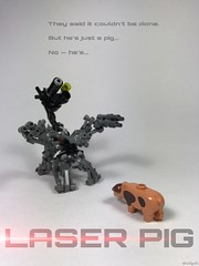 Welcome To The Future Of Porcine Combat (willgalb) Tags: laserpig lego moc pig