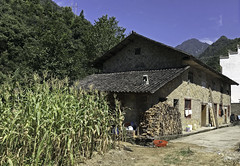 Mountain Farmhouse (cowyeow) Tags: shennongjiaforestrydistrict composition asia asian china chinese farm farming corn shennongjia house village hubei