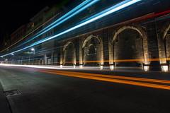 Bus light trail II (ShimmyGraphy) Tags: street light bus de deutschland stream long exposure track time lichter tübingen badenwürttemberg 2015 strase lichtspur langzeitbelichung shimmygraphy