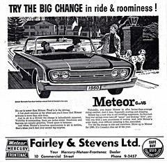 1960 Meteor Montcalm Four-Door Hardtop (aldenjewell) Tags: door canada hardtop nova four newspaper mercury ad stevens scotia ltd dartmouth meteor 1960 fontenac montcalm fairley