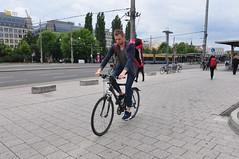 Leipzig 2015  Cyclist (Michiel2005) Tags: man bike bicycle germany deutschland cyclist saxony leipzig sachsen duitsland fiets jongen fietser saxe rijwiel saksen