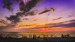 DSC08420 (Orhan Kl) Tags: sunset sea beach nature water georgia seaside outdoor su ge blacksea deniz gnbatm plaj doa kobuleti grcistan denizkys sonya6000 sonysel1650mmf3564