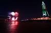 (Pranavian) Tags: longexposure sea tower beach water wheel night speed reflections lights sand nikon colours angle fireworks wide sigma shutter 1020mm blackpool d7000