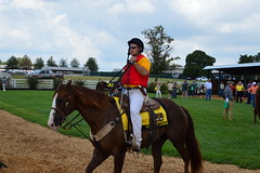 Red vested rider (Krasivaya Liza) Tags: kentuckydowns franklin ky kentucky horse horses racing race downs track