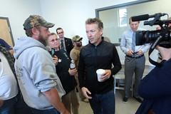 Rand Paul with supporters (Gage Skidmore) Tags: new paul gun state senator united president indoor hampshire granite shooting hudson states range rand senate 2016