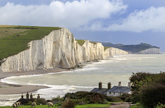 Seven Sisters (chrissmithphotos1) Tags: ocean uk blue sea summer england sky cliff lighthouse white seascape english tourism beach nature water beautiful beauty sisters rural downs landscape sussex coast countryside chalk nationalpark seaside spring high scenery europe view natural south tide scenic landmark cliffs coastal seven eastbourne coastline geology sevensisters seaford southdowns beachy cottages