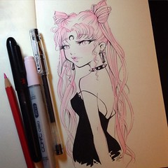 The Black Lady for the #inktober no.4~  #inktober2015 #drawing #sailormoon #blacklady #chibiusa #moleskine #art #traditional (Lola  Atelier Momoni +) Tags: art moleskine drawing traditional sailormoon chibiusa blacklady inktober inktober2015