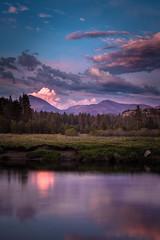Tuolumne River at Dusk (dubland) Tags: california sunset mountains clouds purple yosemitenationalpark sierranevada tuolumnemeadows tuolumneriver calebweston