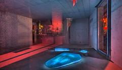 Leuchten im Spiegel (Geonaut) Tags: colors licht kunst lifestyle freizeit beleuchtung farben recklinghausen objekt releuchtet museumjerke releuchtet2015