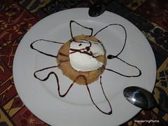 Semolina with ice cream - Complimentary Desert - Old Ottoman Cafe & Restaurant Fatih Istanbul Turkey (WanderingPhotosPJB) Tags: food turkey dessert restaurant sweet pudding istanbul icecream semolina fatih oldottomancaferestaurant