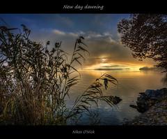 New day dawning (Nikos O'Nick) Tags: new autumn trees light sun lake water sunrise landscape golden nikon day hellas nikos greece macedonia hour nikkor dawning hdr manfrotto kastoria photomatix ελλάδα λίμνη d810 νερό ανατολή onick 055xprob 1424mm καστοριά μακεδονία ήλιοσ νικόλαοσ νίκοσ kotanidis κοτανίδησ 492rc2
