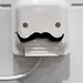 I see a face with moustache