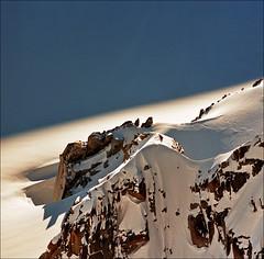 Mont Blanc  close-up (Katarina 2353) Tags: winter light shadow mountain snow france alps film landscape nikon chamonix montblanc katarinastefanovic katarina2353