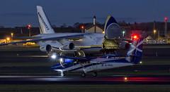 G-HIAL & UR-82029 (Rossco156433) Tags: plane airplane scotland aircraft jet cargo freight prestwick ayrshire dehavilland loganair twinotter an124 prestwickairport southayrshire dhc6 airfreight antonovdesignbureau ur82029 antonovairlines ghial transportscotland prestwickinternational