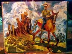 Horse and Rider (front view) (Kerry Niemann) Tags: mesaaz spraypaintmural cowboyandhorsepainting