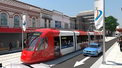 Genesis of the Western Sydney Light Rail Network unveiled. (1) (john cowper) Tags: sydney newsouthwales camellia lightrail strathfield olympicpark parramatta westmead westernsydney sydneylightrail macquariepark sydneypublictransport