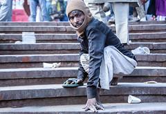 INDIA7440 (Glenn Losack, M.D.) Tags: street people india portraits photography delhi muslim islam prayer poor photojournalism buddhism impoverished flip flops local muslims hindu scenics handicapped deformed beggars glennlosack losack glosack dahlits