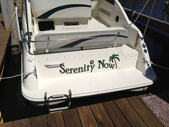 Signarama Fond du Lac, WI | Boat Graphics | Serenity Now