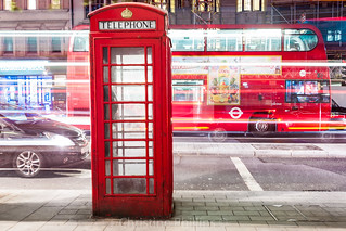 London Phone Booth, Busses and Cabby! Merry Christmas to all :)