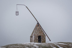 Old lighthouse (kaifr) Tags: lighthouse grey sky old day wind snow cold greysky vestfold norway no winter verdens ende worlds end outdoors verdensende theworldsend