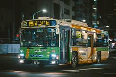 ISUZU ERGA_QPG-LV234L3_Adachi200Ka3260 (hans-johnson) Tags: kanto transportation transport transit tokyo taito asakusa bus toei toeibus blue japan nihon nippon canon eos eos5d 5dm3 70200   blueribbon erga lv234 vsco vscofilm vscocam night