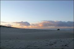 distance (Elly Snel) Tags: ameland island nl strand beach afstand distance clouds wolken sunset zonsondergang auto