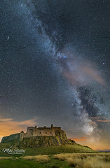 Lindisfarne under the Milky Way