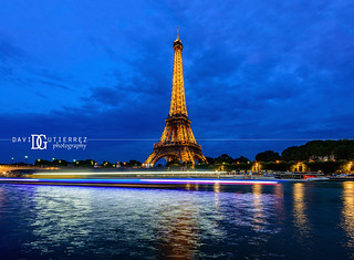 The Seine and Eiffel Tower, Paris, France