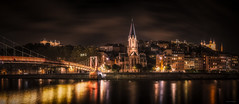 Quartier Saint-Georges (Stphane Slo) Tags: architecture eglise france lyon paysage pentax pentaxk3ii rhne rhnealpes saintgeorges city landscape longexposure night nightlights nuit passerelle passerellesaintgeorges pont poselongue quartier sigma1750f28 urban urbanlandscape ville