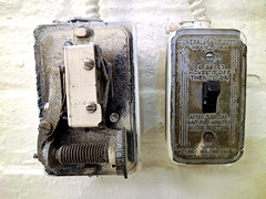 switched (Ian Muttoo) Tags: img20161012125045edit toronto ontario canada gimp electricity light switch dial vintage generalelectric