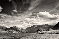 Crummock Water looking towards Rannerdale and Red Pike (John Gravett LPH) Tags: lakedistrict landscape lakelandphotographicholidays lph johngravett workshop mono monochrome blackwhite blackandwhite toned silverefex