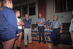 IMG_3474 (SJH Foto) Tags: girls volleyball high school lancaster mennonite elco eastern lebanon team tween teen east teenager varsity tamron 1024mm f3545 superwide lens pregame ceremonies ref referee captains coin toss coach handshake