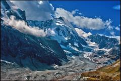 The Dent d'Hérens and the Z'mutt glacier.No. 2535. (Izakigur) Tags: helvetia myswitzerland musictomyeyes swiss suiza suisia thelittleprince zermatt glacier valais wallis switzerland coldplay fixyou alps alpen alpes dieschweiz d700 nikkor nikond700 nikkor2470f28 topf25 topf400 100faves 200faves 300faves 250faves