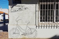 Los Belones, Murcia. (RagbagPhotography) Tags: mural art wall marmenor murcia losbelones bike bicycle