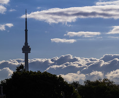 Tower in the clouds (jer1961) Tags: toronto cntower clouds