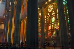 NH0A3758s (michael.soukup) Tags: barcelona sagradafamlia sagrada familia basilica church stainedglass color colorful windows nave interior gaudi churchoftheholyfamily catholicchurch artnouveau architecture neogothic spain catalonia