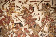 Wayang paintings (Maarten Roggeman) Tags: royal palace roof paintings traditional klungkung taman gili ancient indonesia bali puri agung semarapura kertha gosa pavilion wayang