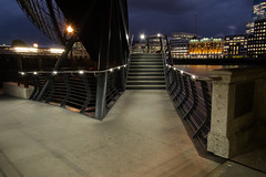 Colour of Night #3 (Are You Looking Closely) Tags: london londonnight londonbridge bridge stairs night nightphoto nightphotography architectural architecture streetphotography streetnight streetphotographer streetphoto fujifilm fujifilmuk nightcolour