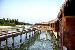 Overwater bungalow at Sheraton (ClickSnapShot) Tags: ilobsterit sheraton maldives sheratonmaldives overwaterbungalow resort indianocean holiday vacation perspective panorama sea water bridges connectingwaterchalets