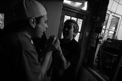 (人生. ラブ. 後悔.) Tags: quilpue chile hardcore punk straight edge black white blanco y negro monochrome monochromatic wide angle gray