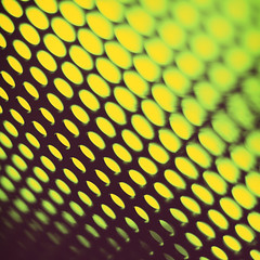 295   366   V (Randomographer) Tags: project366 abstract mesh pattern circles holes wire metal bokeh processed color green yellow 295 366 v