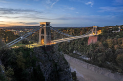 Lights, Camera, Action. (Paul C Stokes) Tags: clifton suspension bridge cliftonsuspensionbridge bristol uk united kingdon gorge autumn sony a7r zeiss 1635 lee filter 9 morning leegrad changingcolour changing colour color clouds perspective depth isambard kingdom brunel isambardkingdombrunel landscape photography landscapephotography autumcolour autumncolor autumnal avon avongorge sunrise presunrise pink pinks sky light lighttrail trail longexposure long exposure